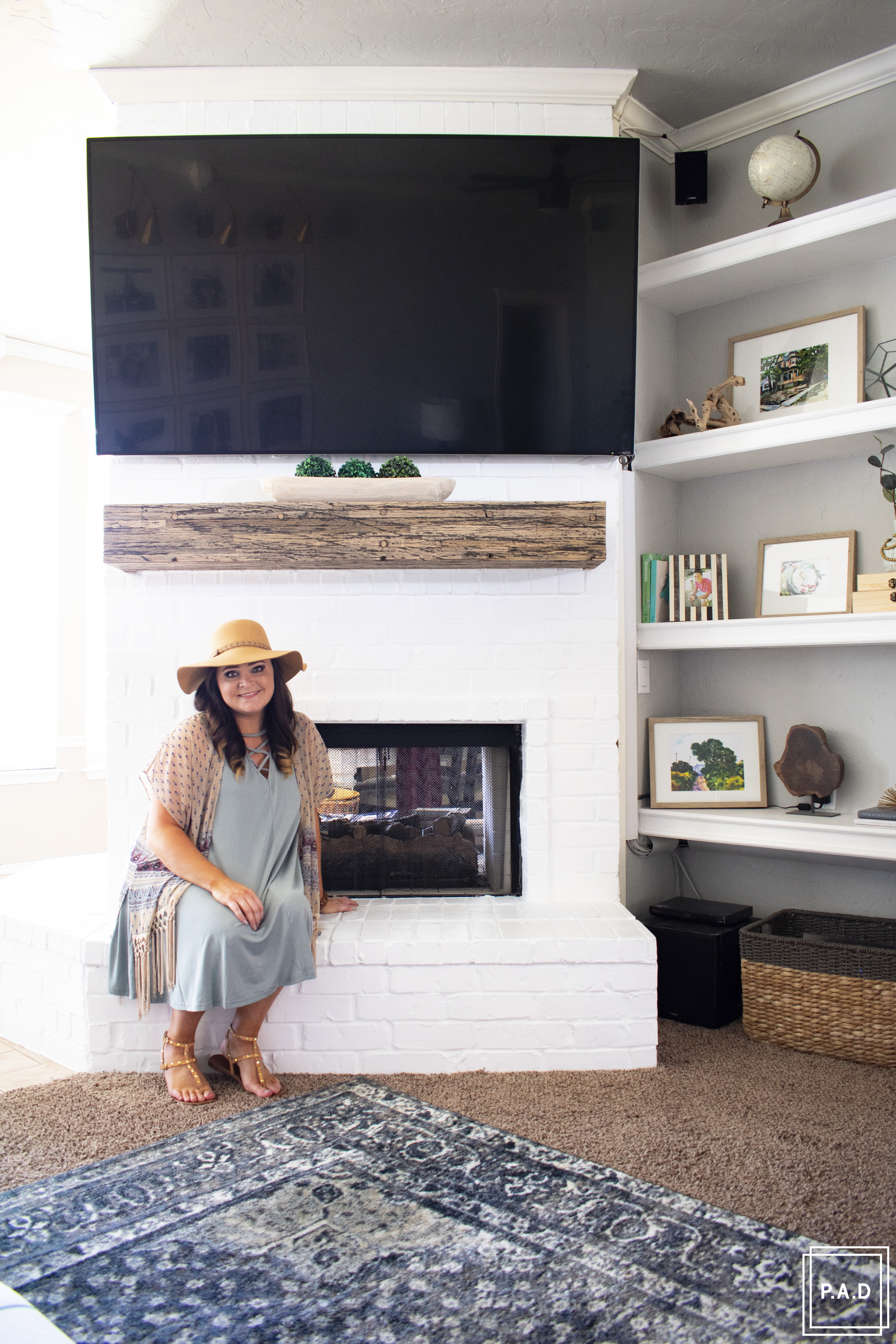 How To Paint A Brick Fireplace • Project Allen Designs